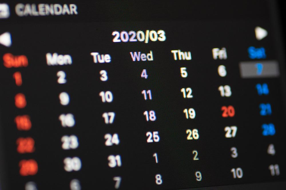 Notification Center Calendar表示イメージ