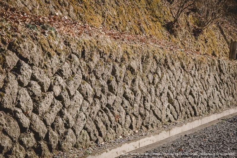 石塀の写真