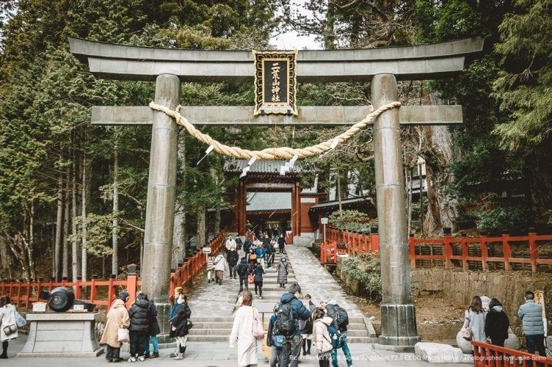 二荒山神社の鳥居の写真