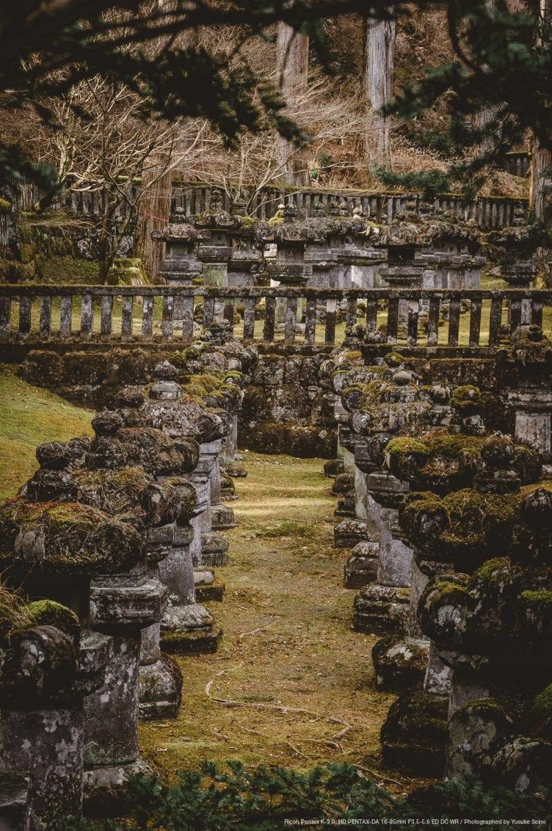 龍光院の石灯籠の写真
